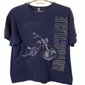 Anvil Motorcycle Distressed Motorcycle Graphic T